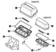 pool light junction box pjb2175 pjb4175 junction box parts inyopools com