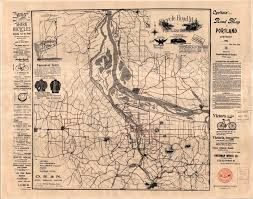 Map Of Portland Map And Data Library University Of Toronto 1896 Cyclist Road Map