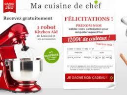 jeux chef de cuisine jeu concours gratuit ma cuisine de chef un kitchen aid et 1