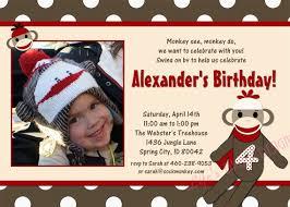 sock monkey birthday invitations ideas u2013 bagvania free printable