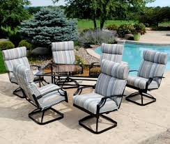 Swivel Rocker Patio Dining Sets Backyard Creations Pacifica 7 Dining Patio Set At Menards