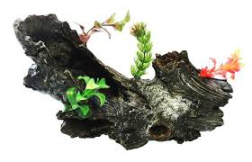 planted log aquarium tropical fish tank ornament co uk
