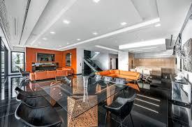 Wohnzimmer Modern Dunkler Boden Moderne Villa In Glyfada Greece X Dolihos Architects