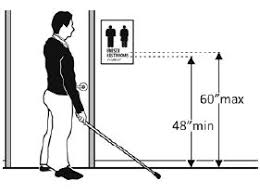 picture height ada bathroom signage requirements my web value