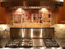kitchen tile murals backsplash custom kitchen backsplash ideas tuscan decor italian tile