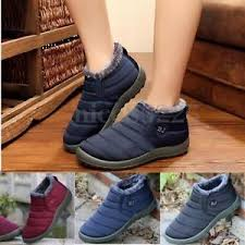 shoes s boots s winter warm fabric fur lined slip on ankle boots