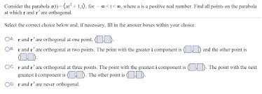 infinity number consider the parabola r t u003d at 2 1 t for i chegg com