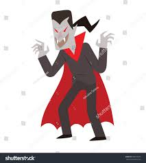 black suit halloween vector cartoon image funny vampire black stock vector 486703945