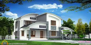 4 bedroom beautiful modern curved roof house kerala home design