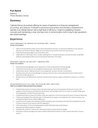 Accounting Resume Examples And Samples by Free Senior Accounting Resume Template Sample Ms Word