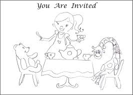 tea party coloring pages click the tea party coloring pages to