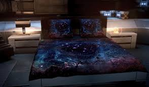Space Bed Set Glow In The Space Blankets Nerdlife For The Of Nerds