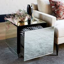 west elm accent table idea geo mirrored console table of geo mirror storage side table