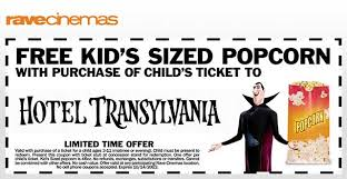 free kid u0027s popcorn hotel transylvania child u0027s ticket purchase