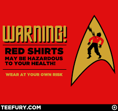 Red Shirt Star Trek Meme - a red shirt red shirt john gushue dot dot dot