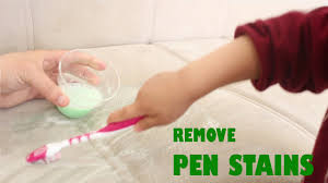 ink off leather couch how to remove pen stains easily simplekidscrafts youtube