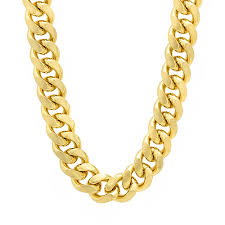 cuban chain necklace gold images 10 5mm 14k gold plated miami cuban link chain necklace jpg