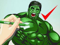 drawn hulk incredible hulk pencil color drawn hulk