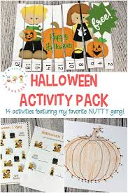 a fun halloween printable activity pack featuring my favorite gang