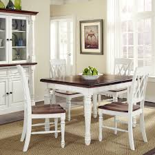 Dining Room White Chairs by Home Styles Monarch 5 Piece Dining Table With 4 Double X Back