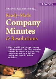 ready made company minutes u0026 resolutions lawpack co uk