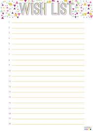 wish list wish list templates carbon materialwitness co