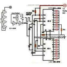Led Blinking Circuit Diagram 18 Led Light Chaser Circuit Using Two Ic 4017
