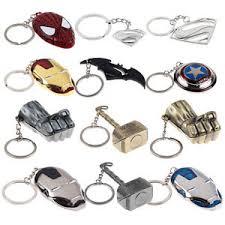 marvel dc batman superman iron key ring keychain