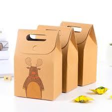 online shop christmas craft paper box handled kraft brown paper
