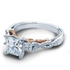 engagement rose rings images Verragio three stone rose gold diamond engagement ring designer jpg