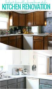 kitchen backsplash diy remodelaholic diy budget friendly white kitchen renovation with