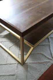 onzaga walnut brass modern coffee table