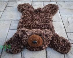 bear skin rug etsy