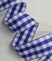blue gingham ribbon gingham tartan ribbon farmhouse fabrics online shop