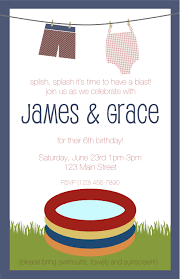 Graduation Party Invitation Card Pool Party Birthday Invitations Templates Birthday Party