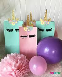 unicorn birthday party unicorn treat bag treat bag decor unicorn birthday party
