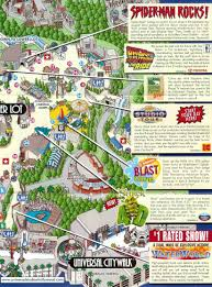 Universal Map Universal Studios In Hollywood Tourist Map Burbank Ca U2022 Mappery