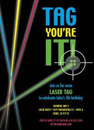 birthday invites surprising laser tag birthday invitations