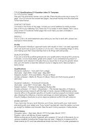 How To Do A Work Resume How To Write A Cv For Your First Job