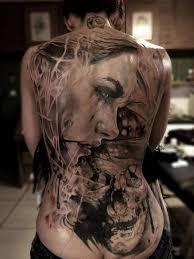 tattoo back face amazing women s face full body tattoo tattoomagz