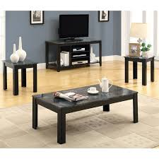 Living Room Coffee Table Set Awesome Monarch Specialties Inc 3 Coffee Table Set Reviews