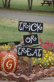 trick or treat sign yard sign happy halloween sign party