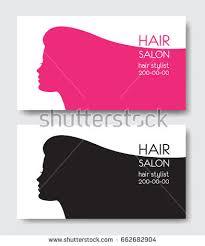 hair salon business card templates beautiful stock vector