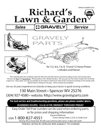 gravely parts quick richard u0027s lawn spencer wv 304 927 4580