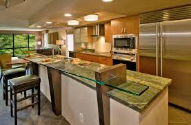 kitchen interior with a bar counter interior design ideas with