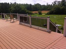 exterior bergen trex transcend with wooden floor and white