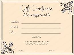 free business gift certificate template 12 business gift