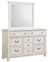 Vintage White Bedroom Mirrors Vintage White Dresser And Mirror Set By Standard Furniture Wolf