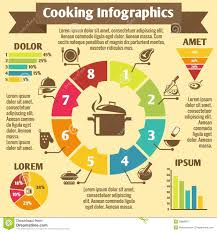cooking infographic icons stock vector image 39869817