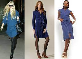 gywneth paltrow u0027s blue shirt dress style ideas and tips